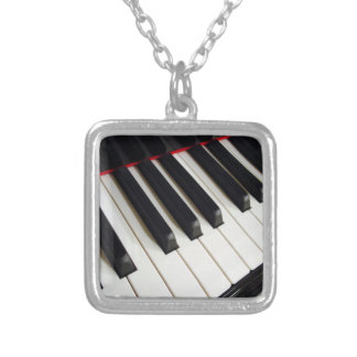 Piano Keys Photograph Silver Plated Necklace