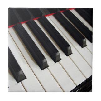 Piano Keys Photograph Ceramic Tile