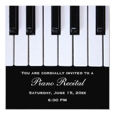 Piano Keys Piano Recital Invitations at Zazzle