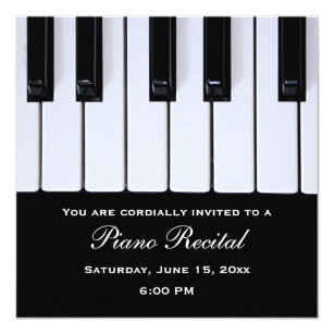 Piano Recital Invitations Announcements Zazzle