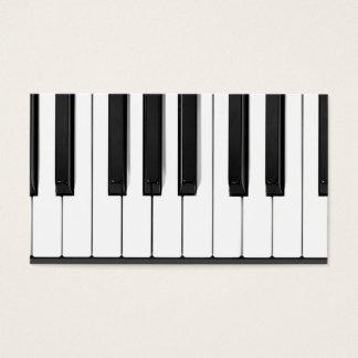 Piano Keys Piano Teacher Business Card
