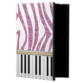 Piano Keys Pink Glitter Zebra Print Case For iPad Air