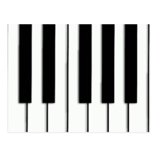 Piano Keys Post Card