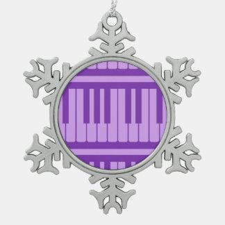 Piano Keys Purple Lavender Pattern Ornaments