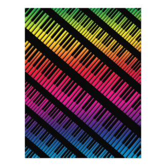 Piano Keys Rainbow Of Color Flyer
