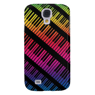 Piano Keys Rainbow Of Color Galaxy S4 Cover