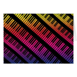 Piano Keys Rainbow Of Color Greeting Card