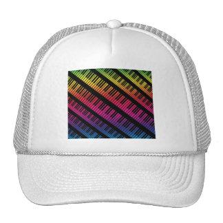 Piano Keys Rainbow Of Color Trucker Hat