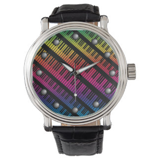 Piano Keys Rainbow Of Color Watches