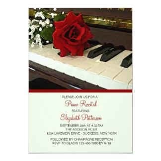 Piano Keys Recital Invitation