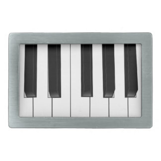 Piano Keys Rectangular Belt Buckle