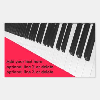 Piano Keys Rectangular Sticker