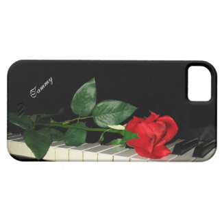 Piano Keys & Red Rose iPhone SE/5/5s Case