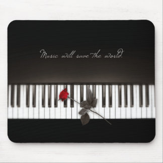 Piano Keys Red Rose Music Lover mousepad