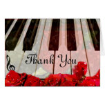 Piano Keys,Roses & Music Notes_ Card