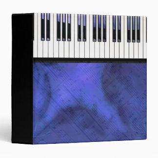 Piano Keys Sheet Music Modern Twist 3 Ring Binder