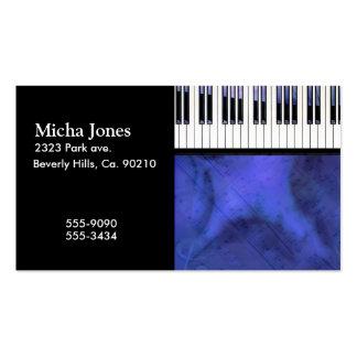 Piano Keys Sheet Music Modern Twist Business Card