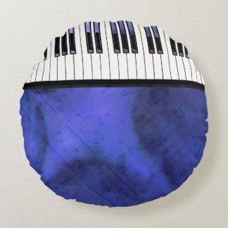 Piano Keys Sheet Music Modern Twist Round Pillow