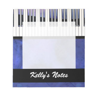 Piano Keys Sheet Music Modern Twist Note Pad