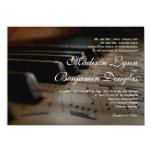 Piano Keys Sheet Music Wedding Invitations