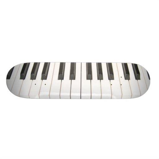 piano keys skate board decks