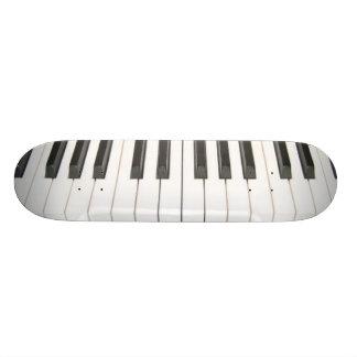 piano keys skateboard deck