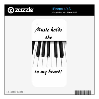 Piano keys skins for iPhone 4