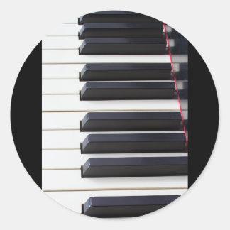 Piano Keys Round Sticker