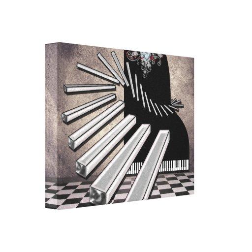 Piano Keys Surreal Music Fantasy Canvas Print