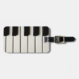 Piano Keys Tag For Luggage