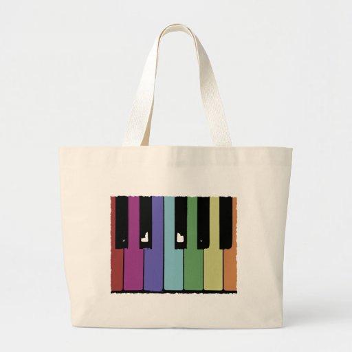 Piano Keys Tote Bags