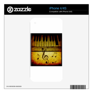 Piano Keys Vintage Decal For The iPhone 4S