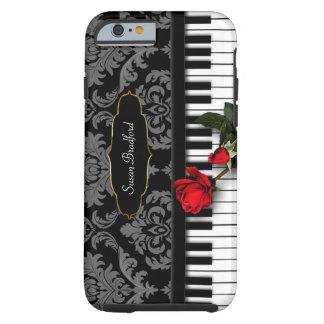PIANO KEYS w/RED ROSE - Damask - I-Phone 6/6s Case