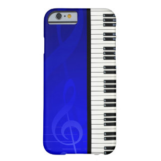 Piano Keys with Blue effect musical notes Barely There iPhone 6 Case