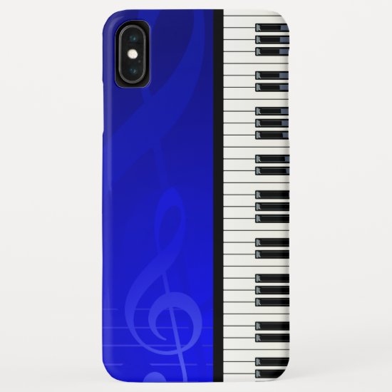 Piano Keys with Blue effect musical notes iPhone XS Max Case