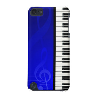 Piano Keys with Blue effect musical notes samsung3 iPod Touch (5th Generation) Cover