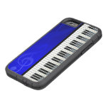 Piano Keys with Blue effect musical notes Tough Xtreme iPhone 6 Case
