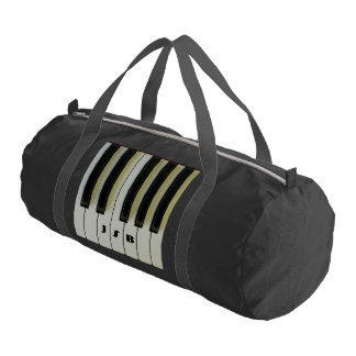 Piano Keys with Customizable Initials Gym Duffle Bag