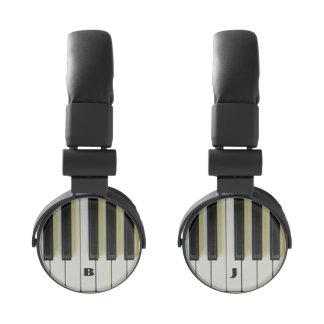 Piano Keys with Customizable Initials Headphones