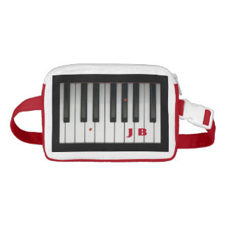 Piano Keys with Ladybugs and Custom Initials Waist Bag
