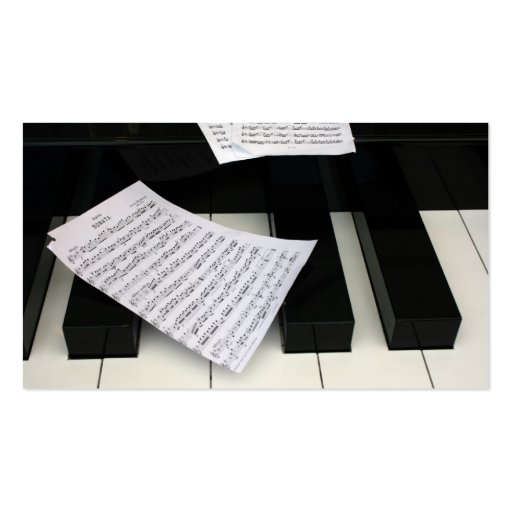 Piano keys with music Double-Sided standard business cards (Pack of 100)