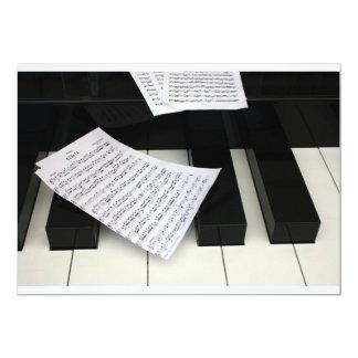 Piano keys with music custom invites