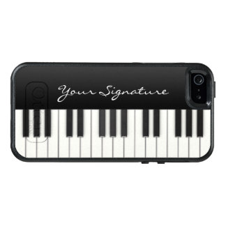 Piano Keys with Signature OtterBox iPhone 5/5s/SE Case
