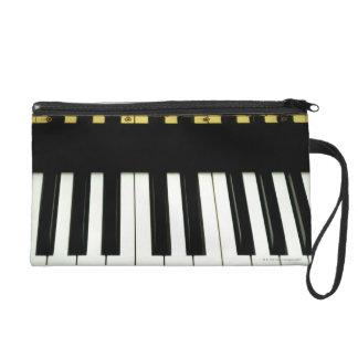 Piano Keys Wristlet Purse