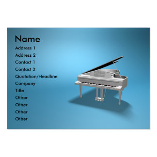 piano large business cards (Pack of 100)