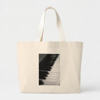 piano large tote bag