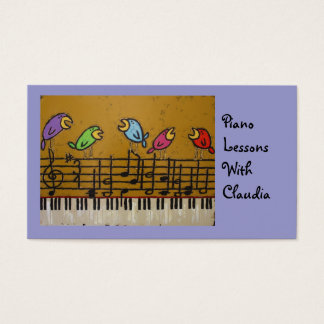 piano lesson business card