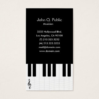 Piano Lesson Teacher Tutor Business Card