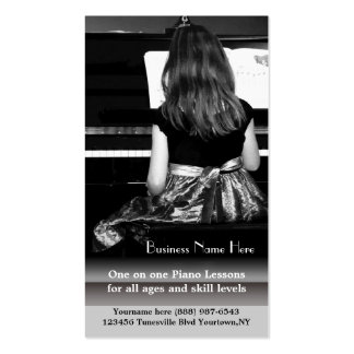 Piano Lessons and Music Teachers Business Card