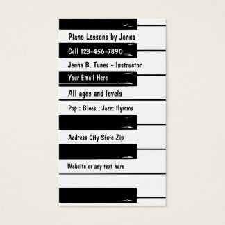 Piano Lessons Business Card